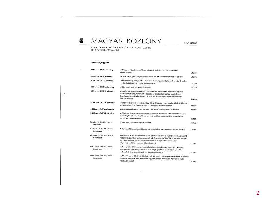 153 A 2010.évi LIII. törvény az általános forgalmi adóról szóló 2007.