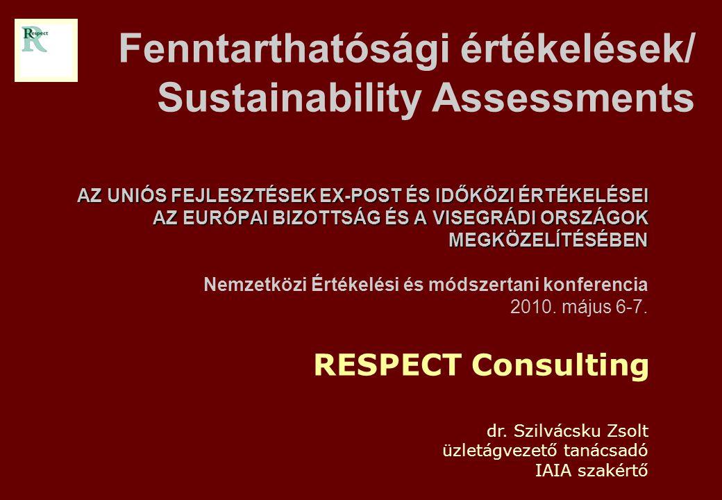 RESPECT Kft.2 Mi jelent és honnan ered a fenntarthatósági értékelés.