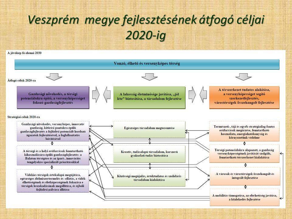 Veszprém megye fejlesztésének átfogó céljai 2020-ig