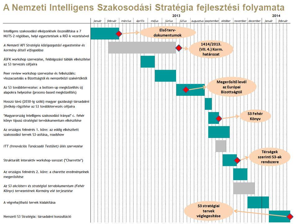 15 A Nemzeti Intelligens Szakosodási Stratégia fejlesztési folyamata