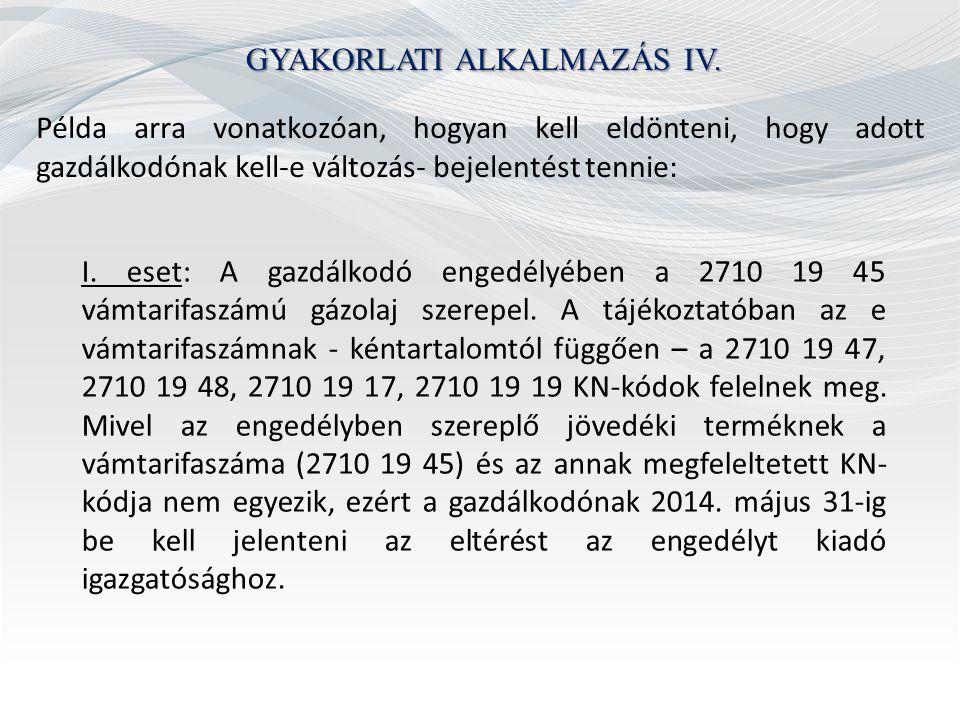 GYAKORLATI ALKALMAZÁS V.