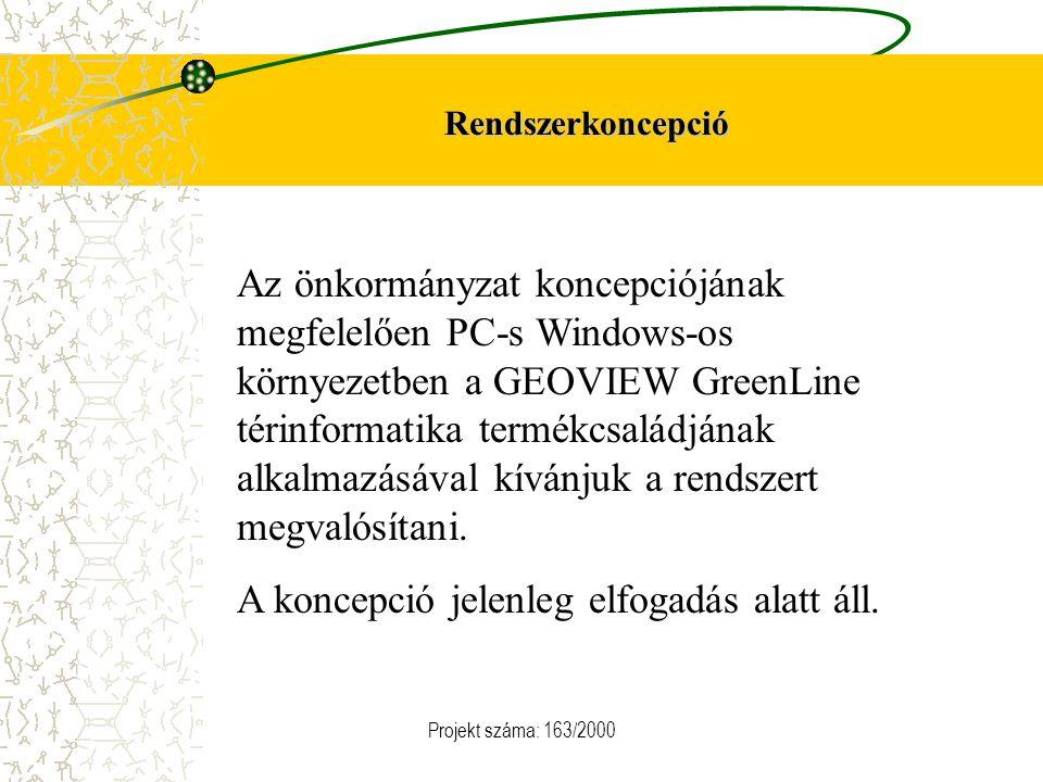 Rendszerkoncepció Az önkormányzat koncepciójának megfelelően PC-s Windows-os környezetben a GEOVIEW GreenLine térinformatika termékcsaládjának alkalma