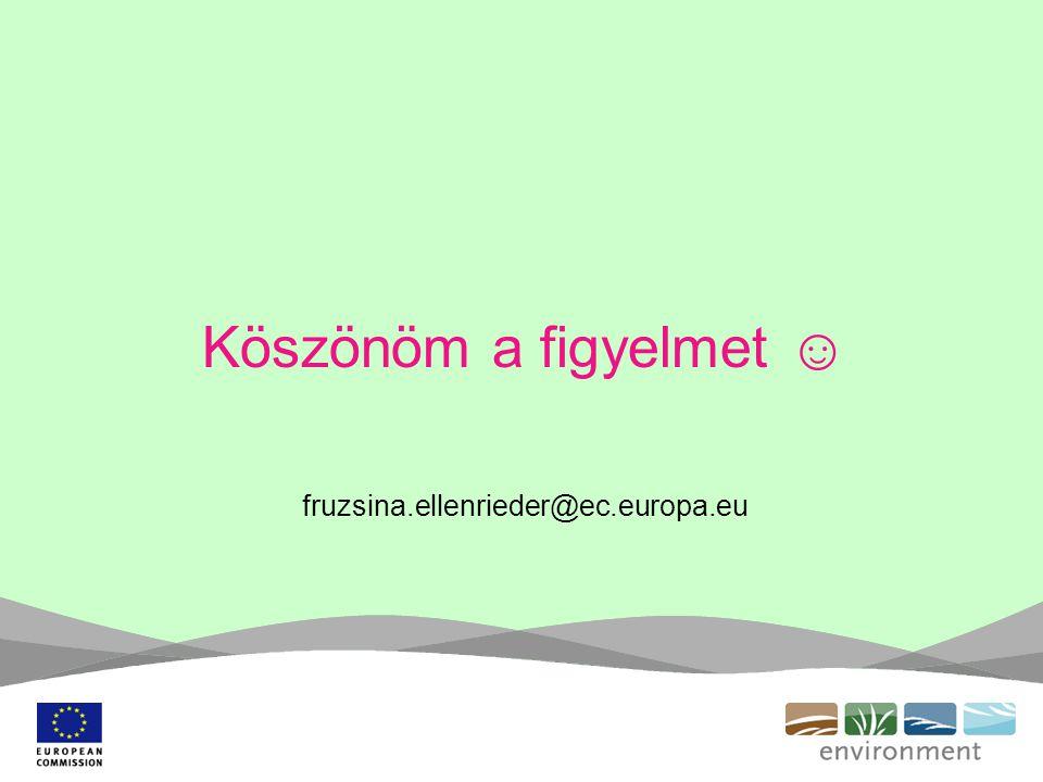 Köszönöm a figyelmet ☺ fruzsina.ellenrieder@ec.europa.eu