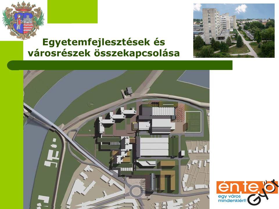 Egyetemfejlesztések és városrészek összekapcsolása