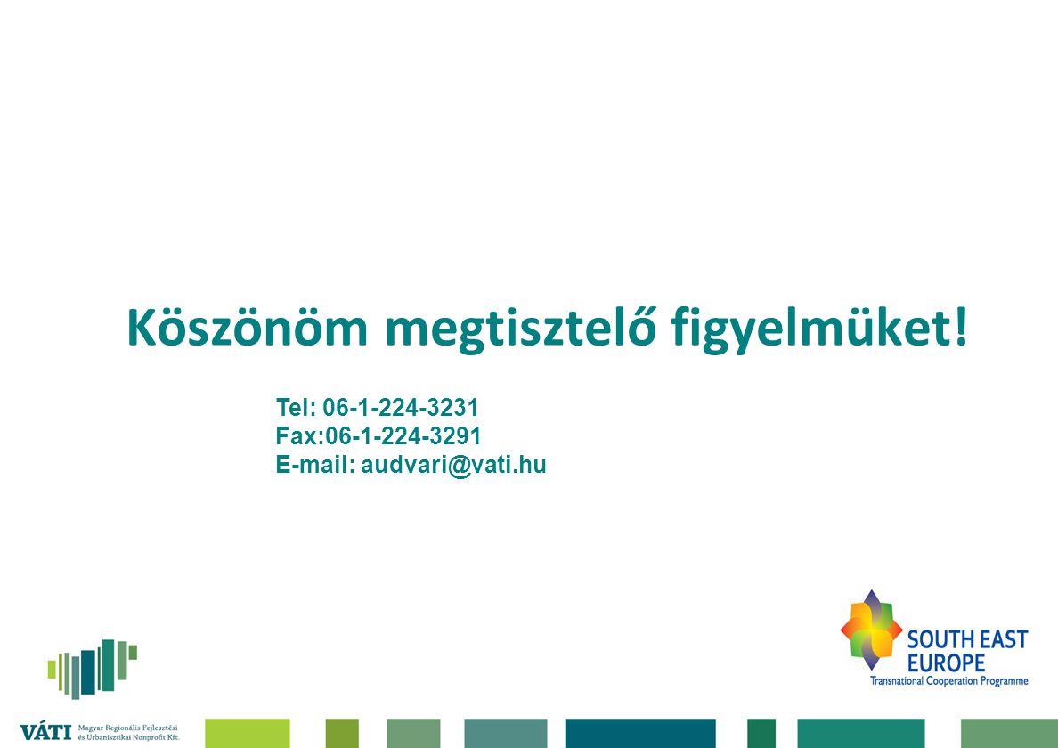 Köszönöm megtisztelő figyelmüket! Tel: 06-1-224-3231 Fax:06-1-224-3291 E-mail: audvari@vati.hu