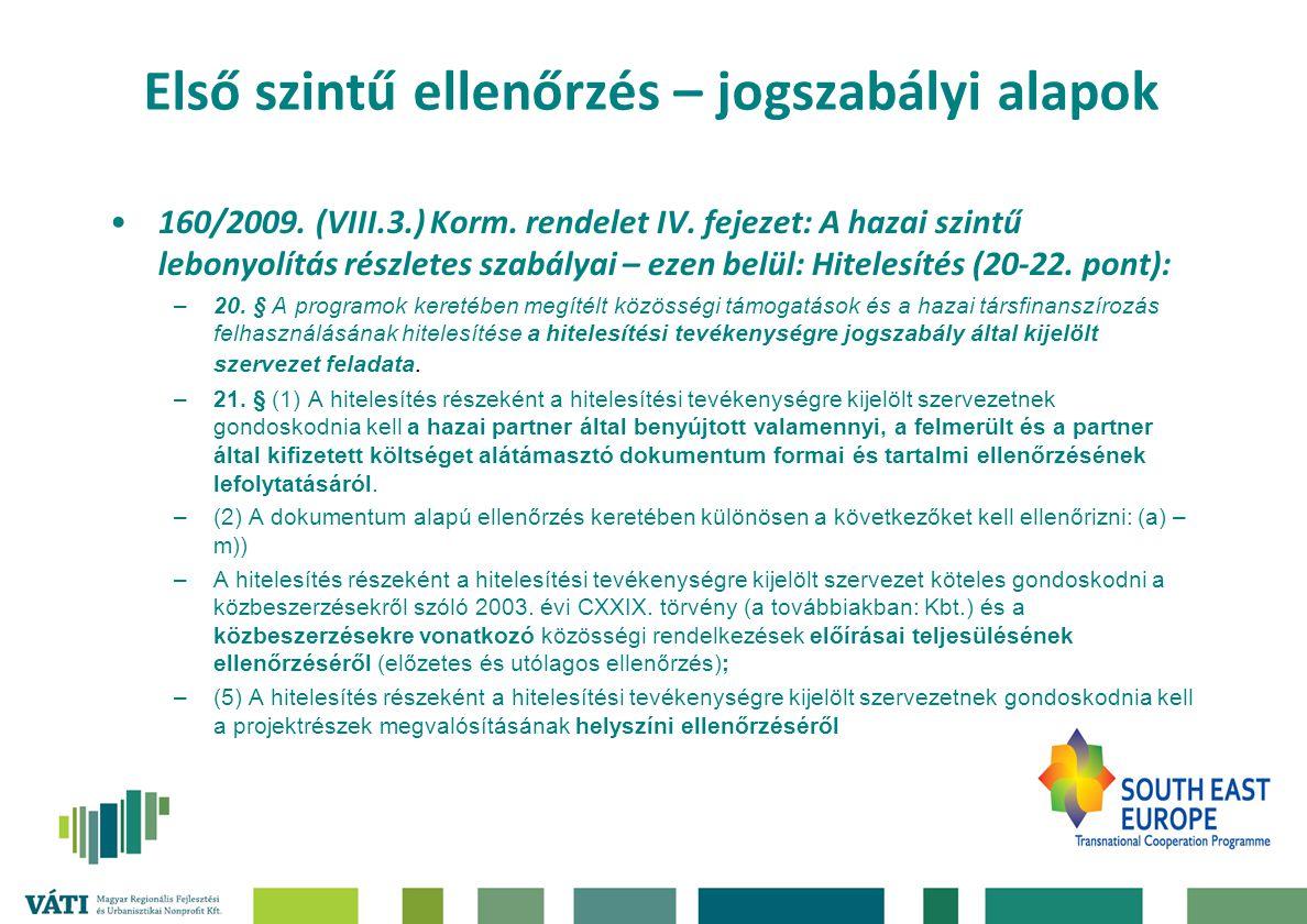 160/2009.(VIII.3.) Korm. rendelet IV.