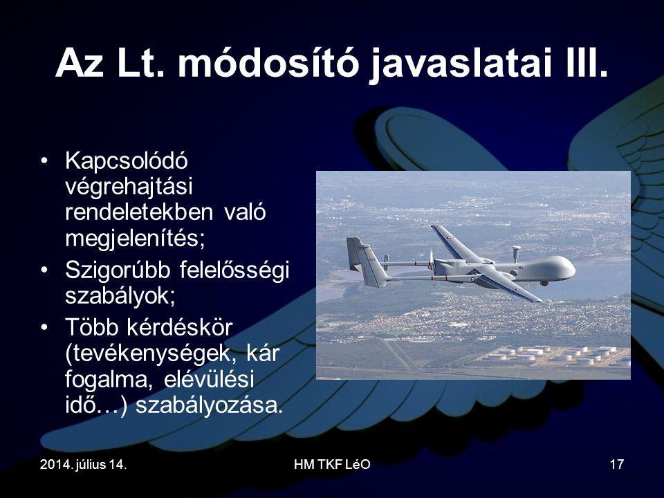 Az Lt.módosító javaslatai III.