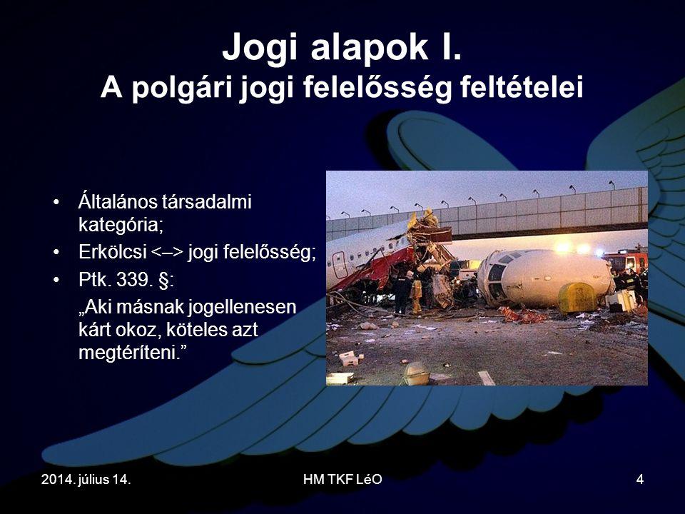 2014.július 14.HM TKF LéO4 Jogi alapok I.