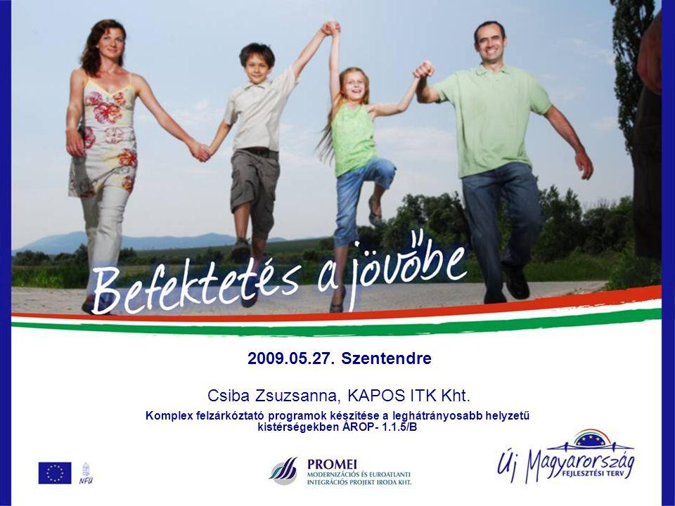 2009.05.27. Szentendre Csiba Zsuzsanna, KAPOS ITK Kht.