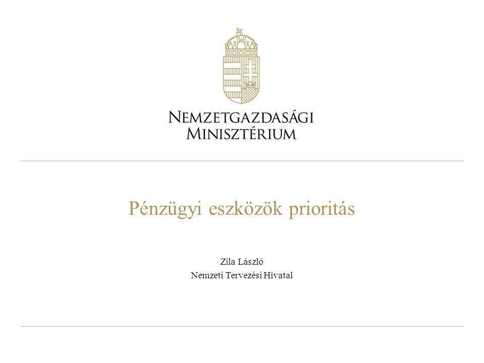 Pénzügyi eszközök prioritás Zila László Nemzeti Tervezési Hivatal