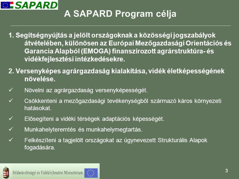 4 INTÉZKEDÉSEK 1.Mezőgazdasági vállalkozások beruházásainak támogatása 2.