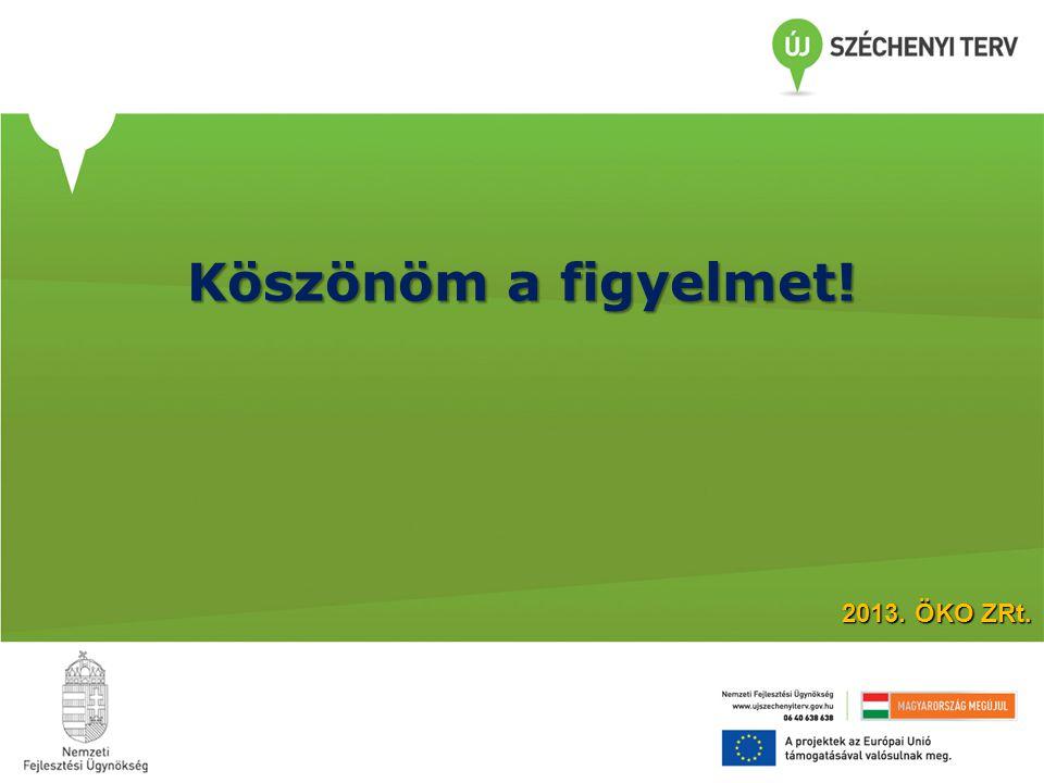 Köszönöm a figyelmet! 2013. ÖKO ZRt.