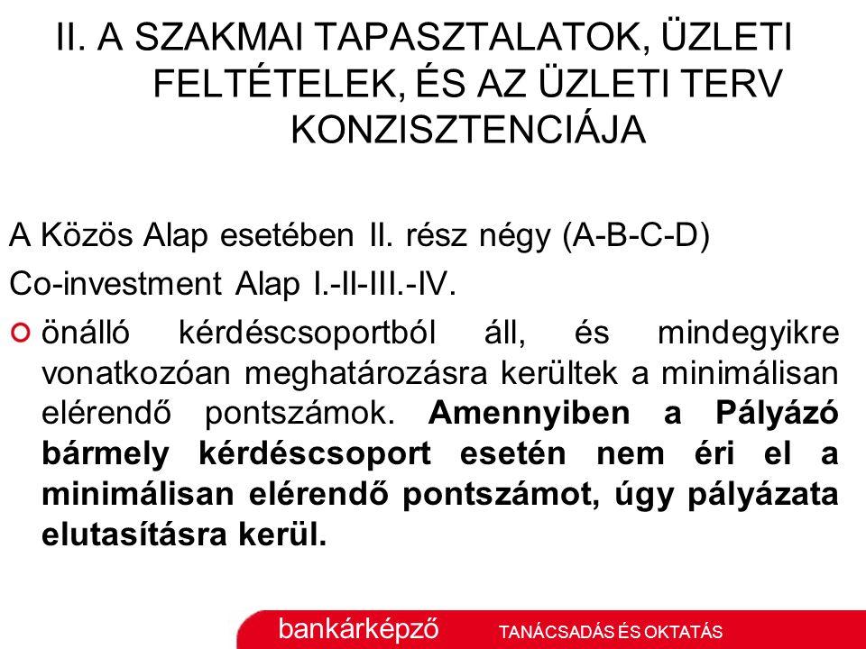bankárképző TANÁCSADÁS ÉS OKTATÁS II.