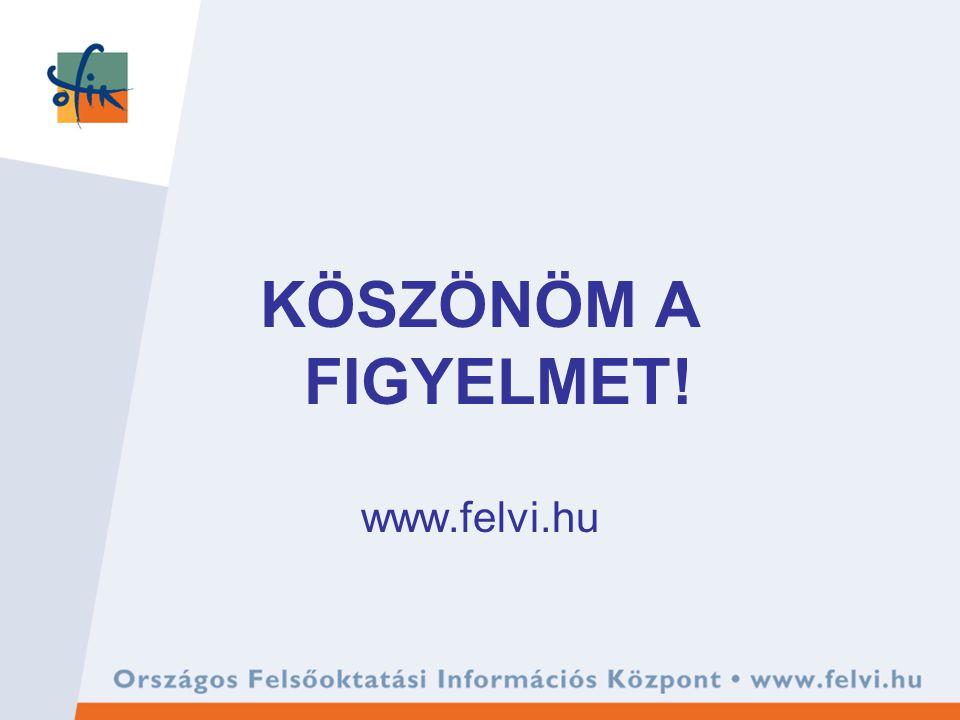 KÖSZÖNÖM A FIGYELMET! www.felvi.hu