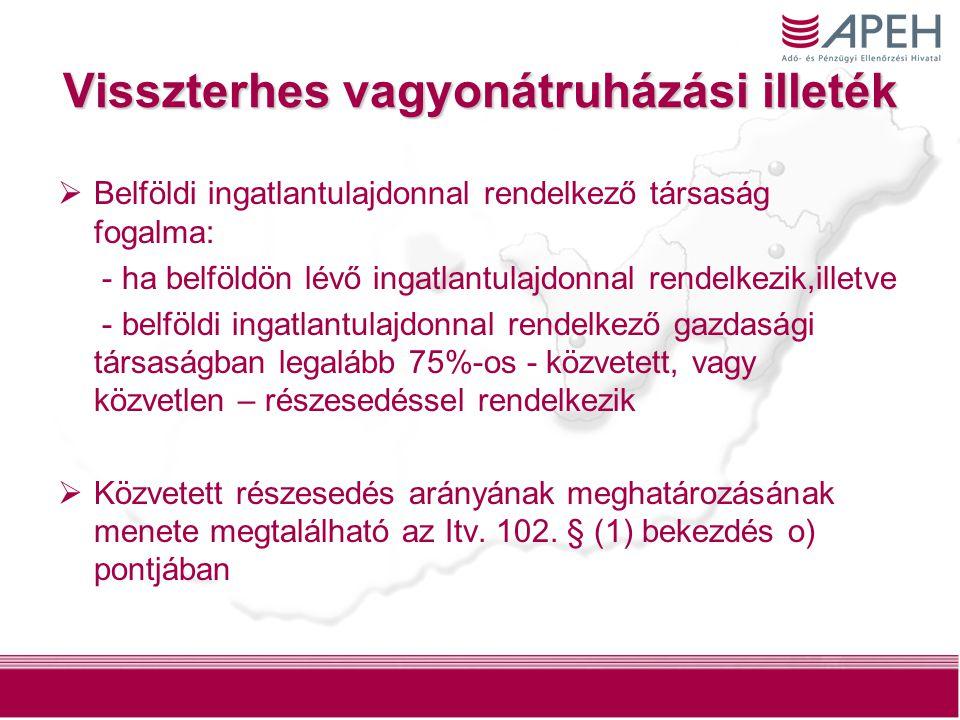 5 Visszterhes vagyonátruházási illeték  Az illeték alapja (Itv.