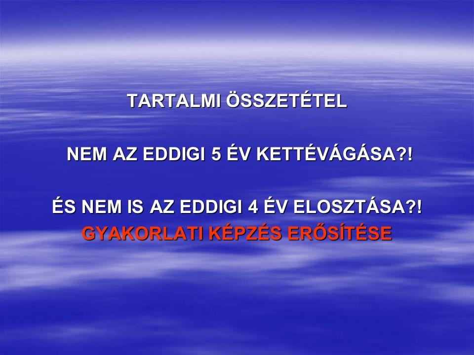 TARTALMI ÖSSZETÉTEL NEM AZ EDDIGI 5 ÉV KETTÉVÁGÁSA?.