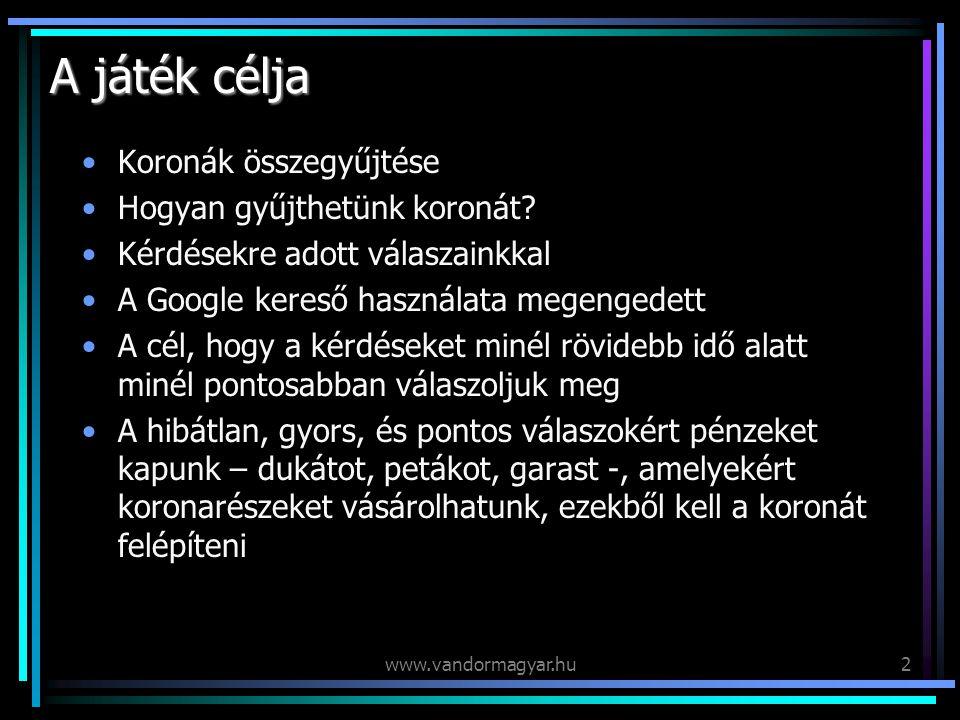 www.vandormagyar.hu13 Új útra indulok