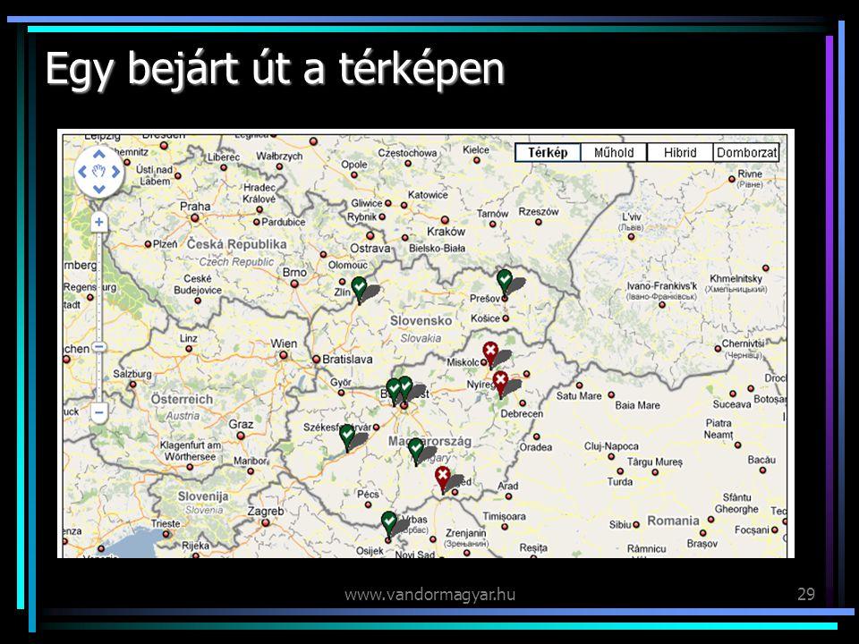 www.vandormagyar.hu29 Egy bejárt út a térképen