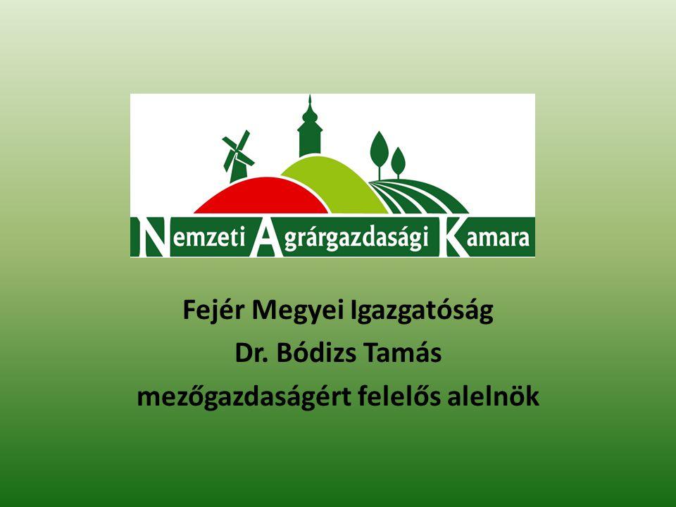 Az agrárgazdaság és öntözés, víztározás Fejér megyei vonatkozásai