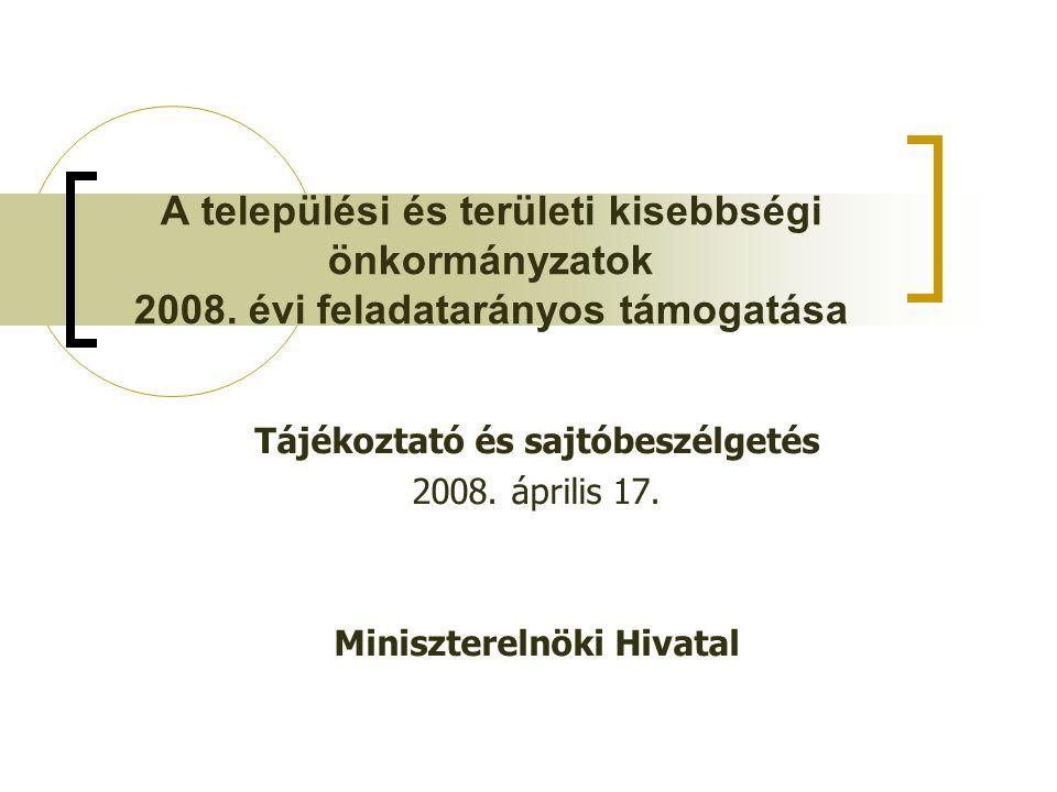 A települési és területi kisebbségi önkormányzatok 2008.