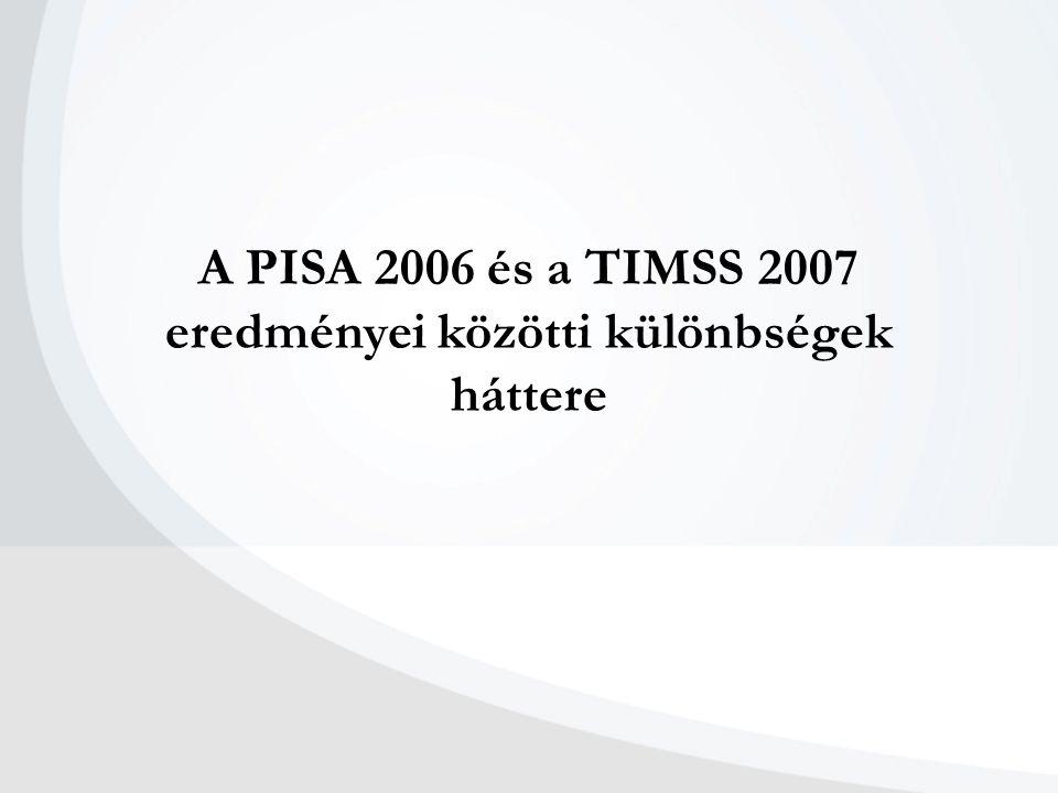 A PISA 2006 és a TIMSS 2007 eredményei közötti különbségek háttere