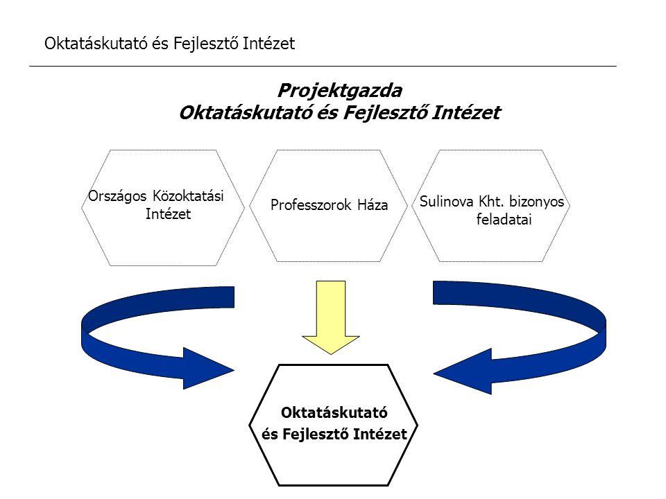 Oktatáskutató és Fejlesztő Intézet Küldetésnyilatkozat Kutatási fejlesztési és innovációs tevékenység és szolgáltatások nyújtása a magyar oktatás fejlesztése érdekében Az egész életen át tartó tanulásról szóló közgondolkodás alakítása Tevékenységében törekszik: Az oktatás minőségének, hatékonyságának, eredményességének, javítására Együttműködés a kutató és fejlesztő intézetekkel, civil szervezetekkel