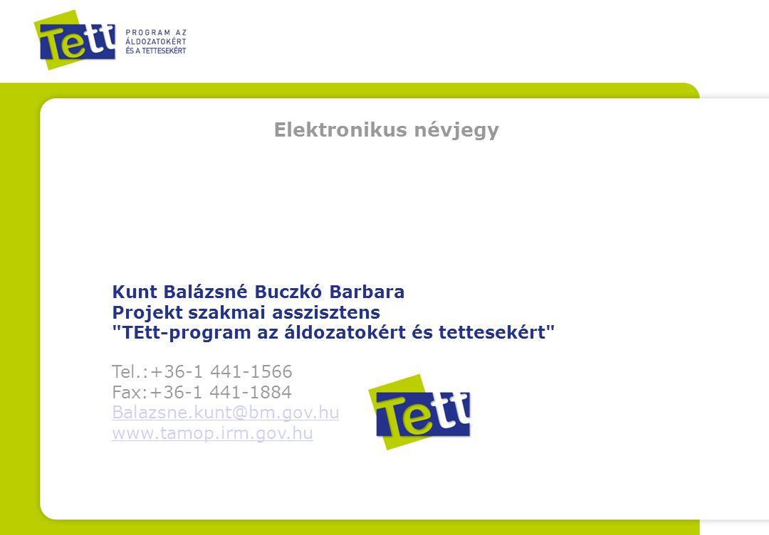 Kunt Balázsné Buczkó Barbara Projekt szakmai asszisztens