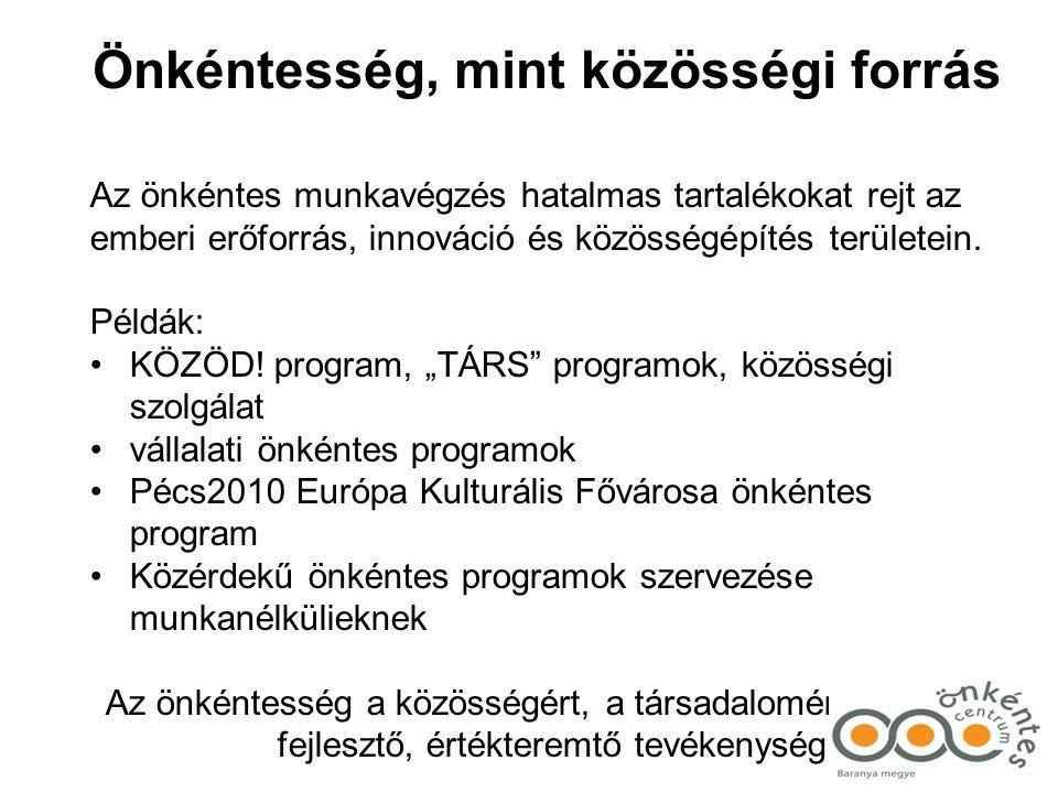 A magyarországi önkéntesség fejlesztési stratégiája 2007-2017 A dokumentum célja, hogy összefoglalja mindazt, ami az önkéntesség szempontjából az utóbbi bő másfél évtizedben történt, hogy levonja a történésekből adódó következtetéseket, és vázolja a következtetések nyomán felépülő stratégiai irányokat és közös feladatokat.