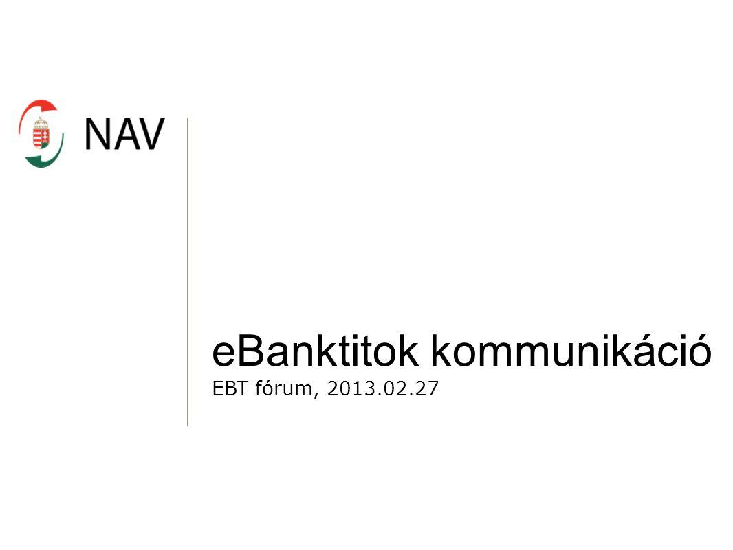 eBanktitok kommunikáció EBT fórum, 2013.02.27