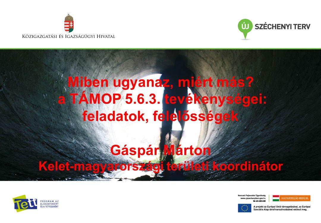Az utógondozás szerepe és fontossága az Igazságügyi Szolgálatnál Dr. Kunfalvi Zoltán, KIMISZ Főigazgató Miben ugyanaz, miért más? a TÁMOP 5.6.3. tevék