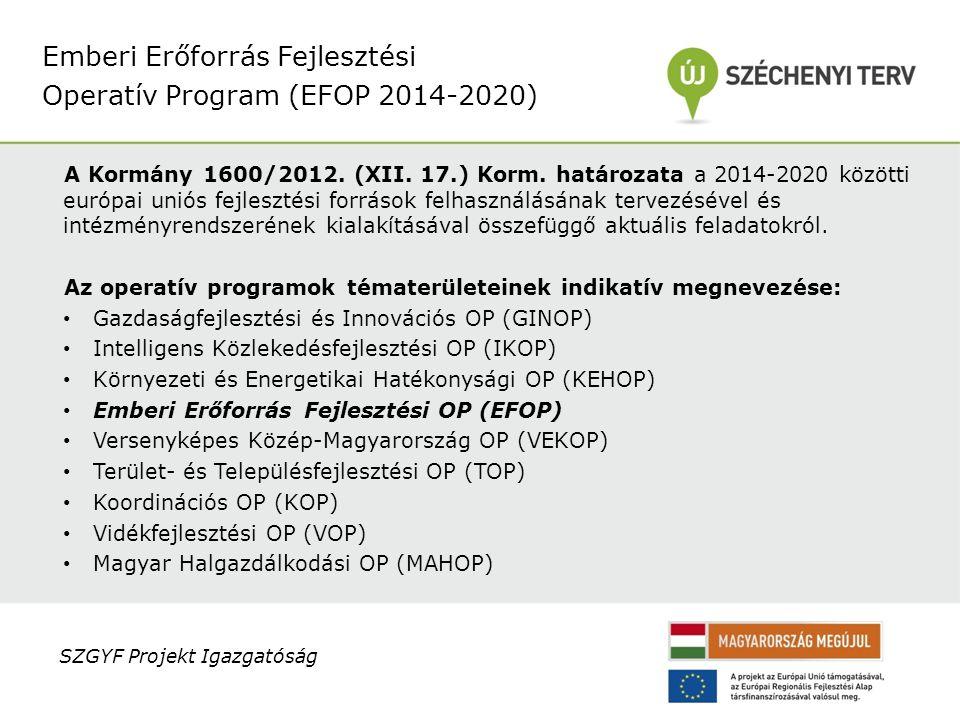 A Kormány 1600/2012.(XII. 17.) Korm.