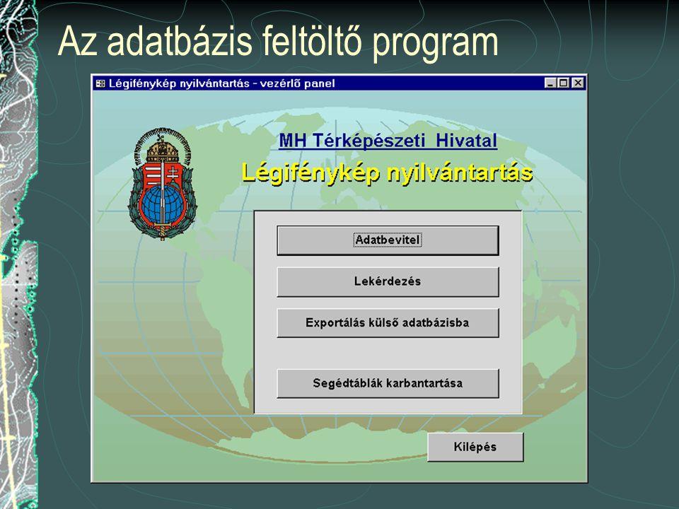 Az adatbázis feltöltő program