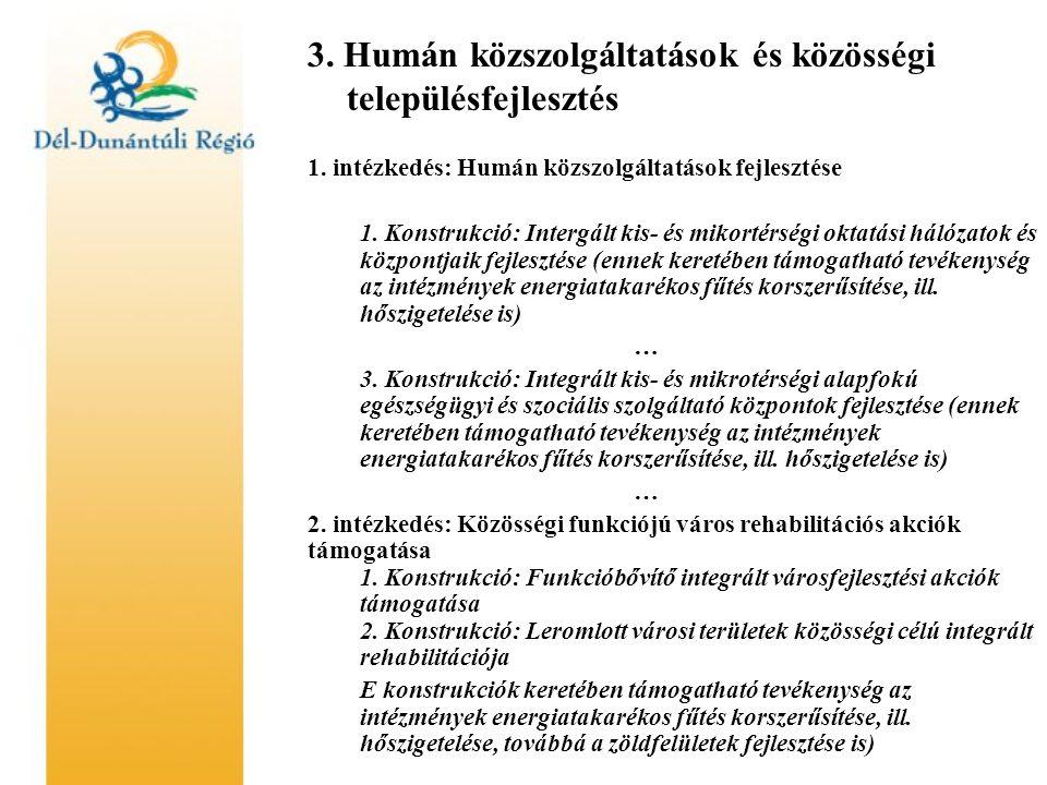 3. Humán közszolgáltatások és közösségi településfejlesztés 1.