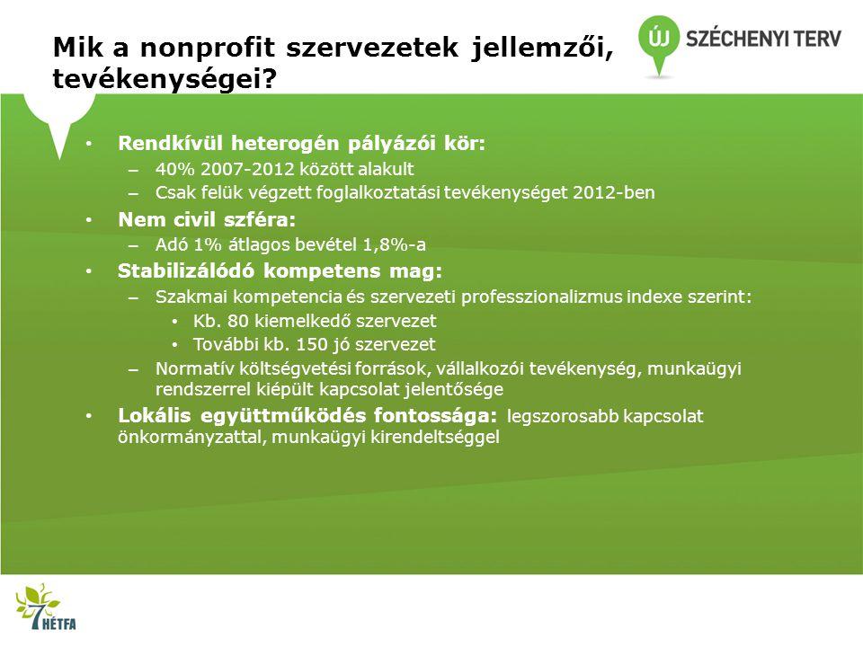 Mik a nonprofit szervezetek jellemzői, tevékenységei.