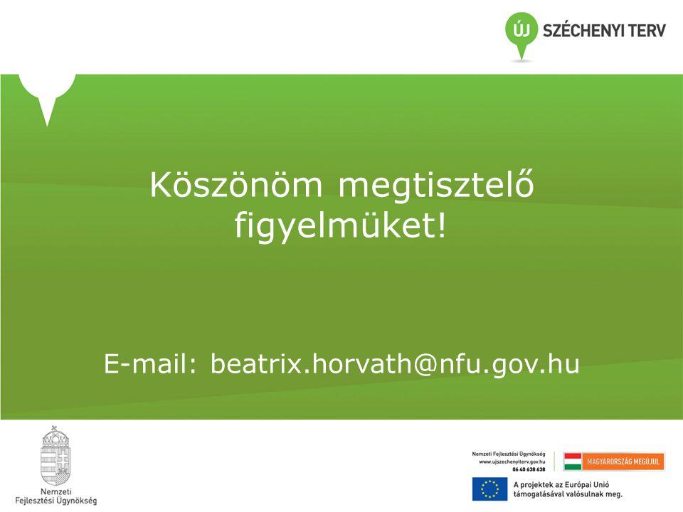 Köszönöm megtisztelő figyelmüket! E-mail: beatrix.horvath@nfu.gov.hu