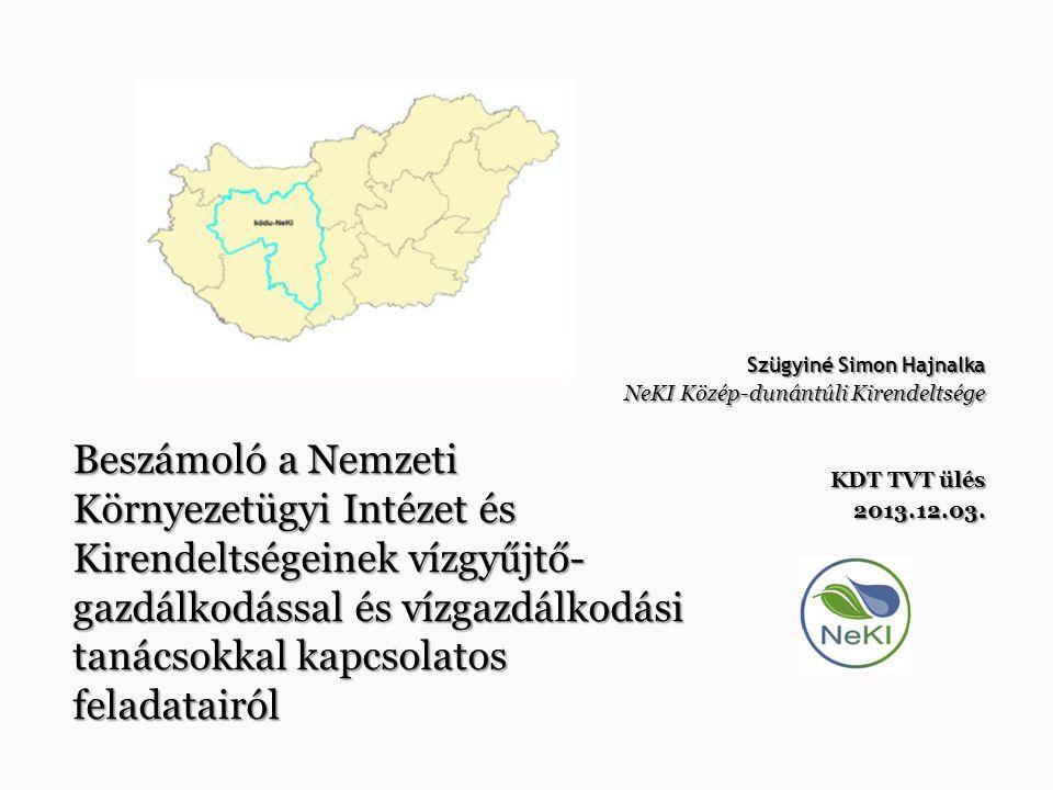  VGT előzmények rövid ismertetése  A NeKI jogszabály szerinti VGT feladatai  Tényleges feladatok 2012-2013-ban  Vízgazdálkodási Tanácsok tevékenysége Megyei Albizottságok, Szakmai Bizottságok TVT-RVT-OVT  Tanácstagi feladatok ismertetése  Titkársági feladatok ismertetése