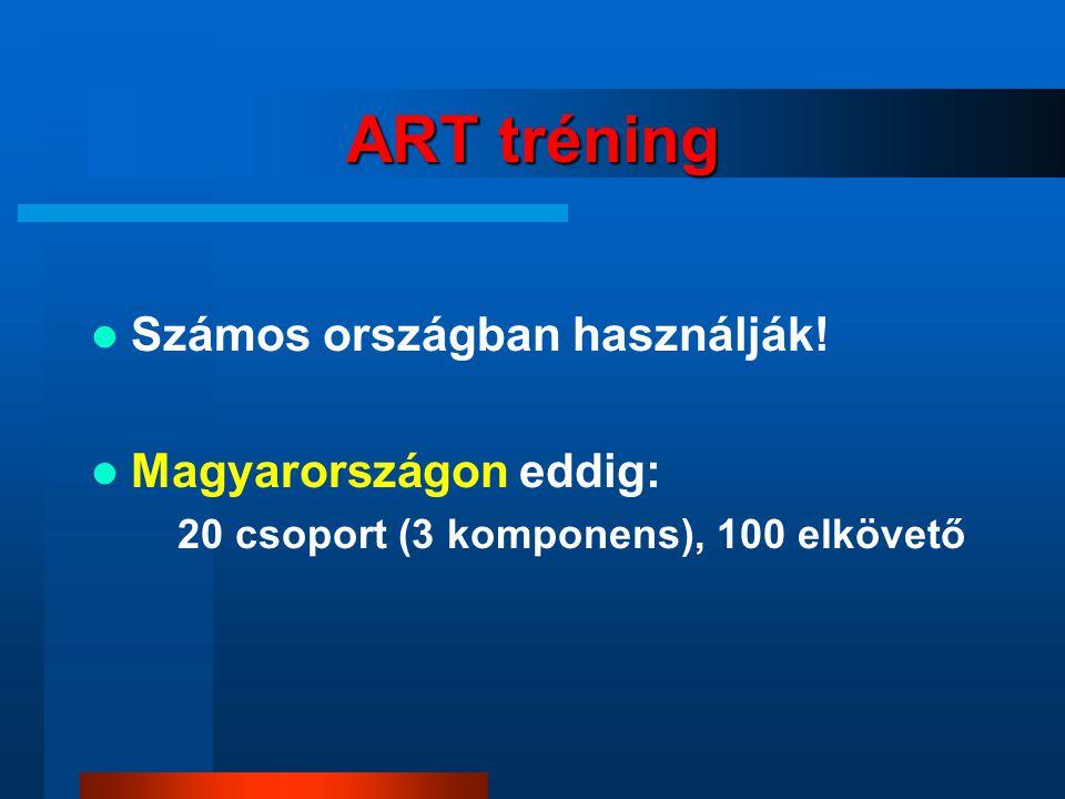 ART tréning Számos országban használják.