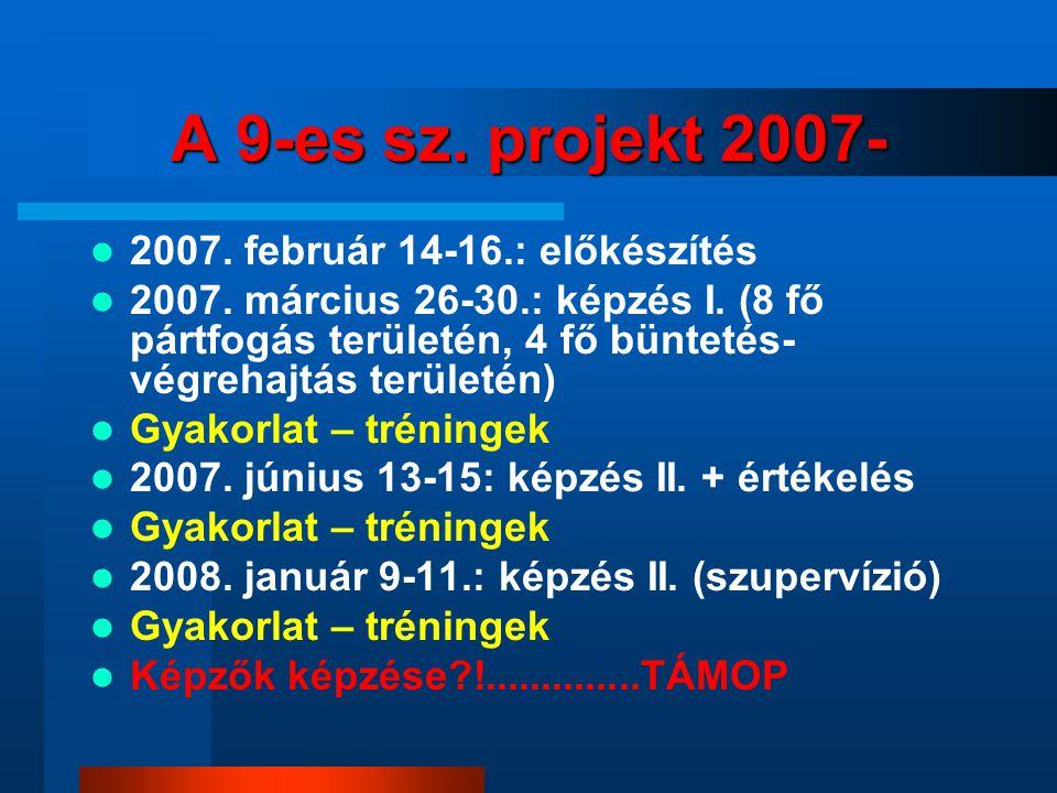 A 9-es sz.projekt 2007- 2007. február 14-16.: előkészítés 2007.