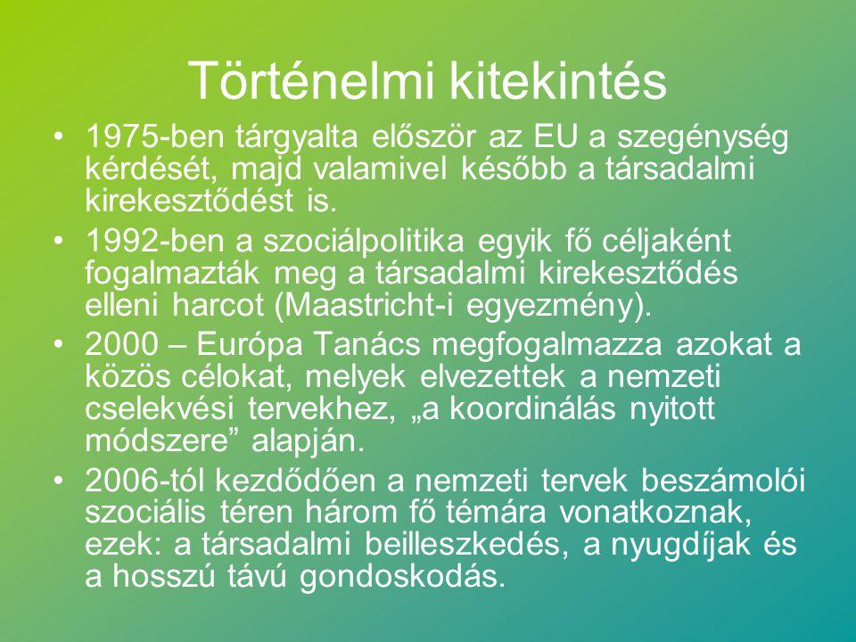 Történelmi kitekintés 1975-ben tárgyalta először az EU a szegénység kérdését, majd valamivel később a társadalmi kirekesztődést is.