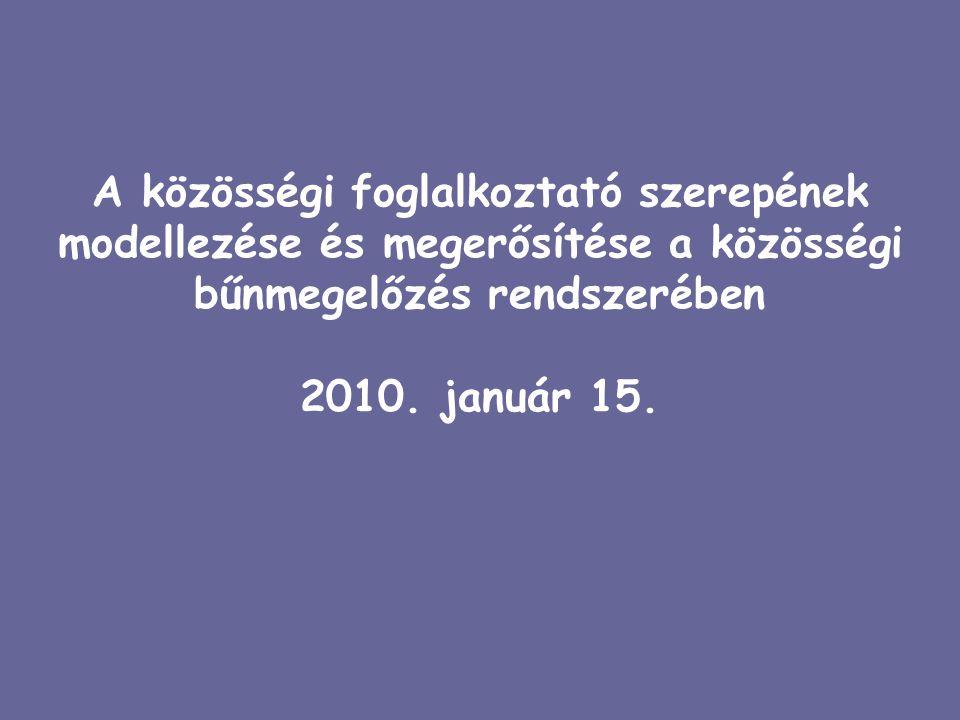 Pályázati előzmények Jóvá Tett Hely Képzési, Támogató és Szabadidős Központ 2004.