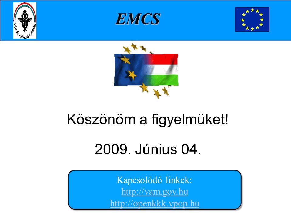 Köszönöm a figyelmüket! 2009. Június 04.. Kapcsolódó linkek: http://vam.gov.hu http://openkkk.vpop.hu http://vam.gov.hu http://openkkk.vpop.hu Kapcsol