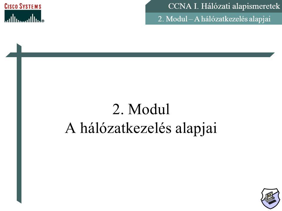 CCNA I. Hálózati alapismeretek 2. Modul – A hálózatkezelés alapjai 2. Modul A hálózatkezelés alapjai