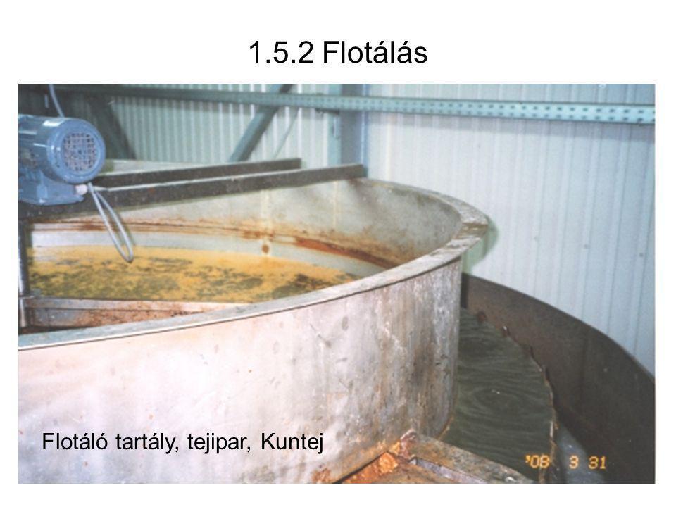 Flotáló tartály, tejipar, Kuntej