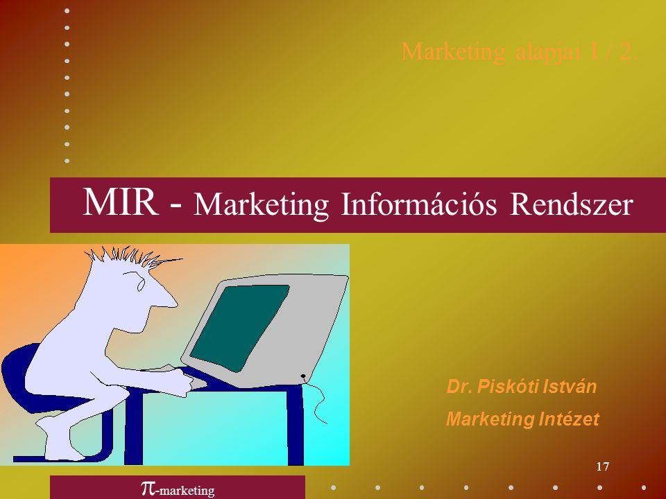 16 Marketing-mix elemei productkínálati-mix priceszerződési-mix place disztribúciós-mix promotion kommunikációs-mix personnelmunkatársak purchasingbes