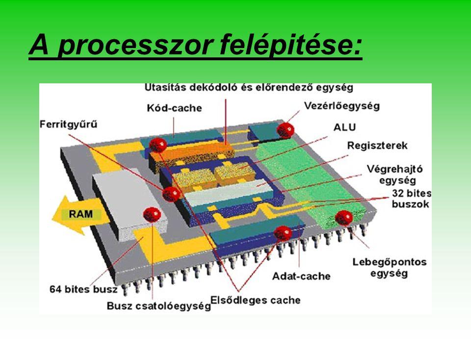 A processzor felépitése: