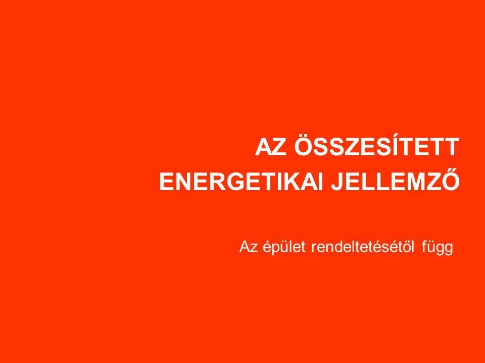 AZ ÖSSZESÍTETT ENERGETIKAI JELLEMZŐ Az épület rendeltetésétől függ