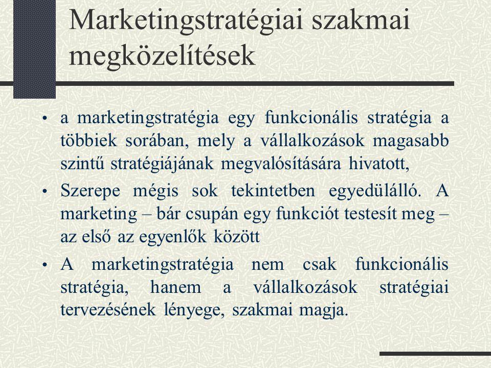 A marketingstratégia alapkérdései Marketing alapjai 12. Dr. Piskóti István