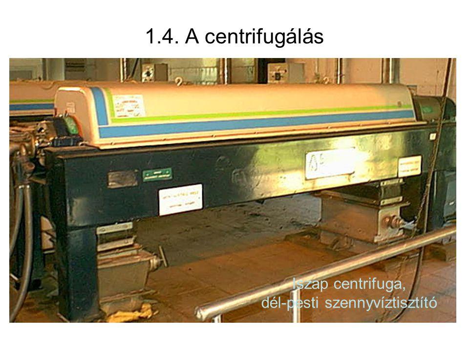 Humbold iszap centrifugaIszap centrifuga, dél-pesti szennyvíztisztító