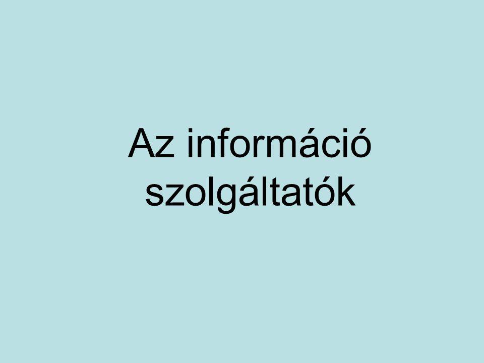 Az információ szolgáltatók