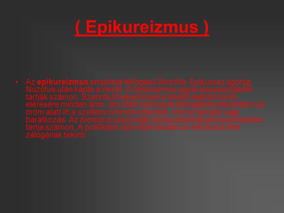 Epikurosz filozófiája Epikurosz filozófiai tanítását a démokritoszi atomista természetfilozófia alapozza meg, amely a természet jelenségeinek átfogó magyarázatát tette lehetővé.